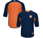 Houston Astros Majestic Authentic Collection On-Field Batting Practice Jersey on Ebay