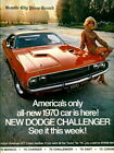 1970 Vintage Dodge Challenger Commercial Retro Car Ad HD Print POSTER Multisizes