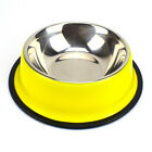 STAINLESS STEEL Standard Pet Dog Puppy Cat Food or Drink Water Bowl Dish