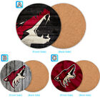 Arizona Coyotes Wood Coaster Cup Mat Coffee Drink Mug Pad $3.49 USD on eBay