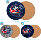 Columbus Blue Jackets Wood Coaster Cup Mat Coffee Drink Mug Pad $3.49 USD on eBay