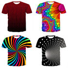 L~3XL Men Round Neck Short Sleeve 3D Print Personalized Shirt Tee Tops Oversize