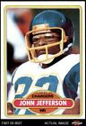 1980 Topps #365 John Jefferson Chargers EX/MT $4.5 USD on eBay