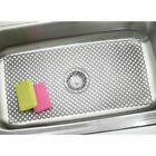 mDesign Plastic Kitchen Farmhouse Sink Protector Mat, X-Large