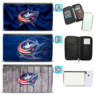 Columbus Blue Jackets Leather Travel Passport Holder Organizer Wallet $15.99 USD on eBay