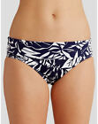 FIGLEAVES FOLD WAIST BIKINI BRIEF Blue Floral Tobago  NEW