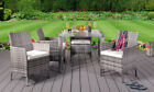 5PC Rattan Dining Set Outdoor Garden Patio Furniture - 4 Chairs & Square Table