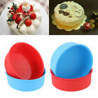 Kitchen Silicone Cake Pan Tray Round Pattern Pudding Mold Muffin Mousse Mould