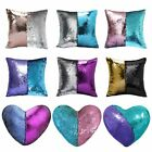 """Throw Pillow 16"""" Reversible Mermaid Case Glitter Sequin Pattern Cushion Covers   image"""