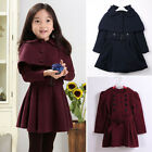 Toddler Kid Girl Long Trench Coat Winter Wind Jacket Dress Outerwear Sweatwear