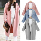 US Women Thicken Warm Winter Wool Trench Coat Parka Overcoat Long Jacket Outwear