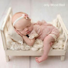 Newborn Baby Mini Wood Bed Detachable Wooden Photography Photo Props For Shoot