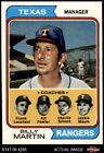 1974 Topps #379 Billy Martin / Art Fowler / Frank Lucchesi / Jackie Moore  NM/MT