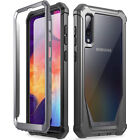 Galaxy A50 Case Poetic Clear PC Back TPU Bumper Drop Protection Cover Black