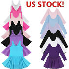 US Girls Gymnastics Ballet Dance Dress Toddler Kids Leotard Tutu Skirt Costume