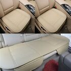 Car Front& Rear Seat Chair Cushion PU Leather Soft Pad Cover Protector Mat Set