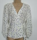 Hobbs Lucinda Abstract Print Wrap Blouse Top Work Occasion - Size 6 - 14