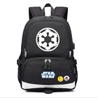 Star Wars Galactic Empire USB Port Backpack Boys Schoolbag Shoulder Travel Bags $32.99 USD on eBay