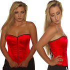 RED SATIN BASQUE CORSET gothic  tutu punk GOTH BURLESQUE COSTUME ALTERNATIVE