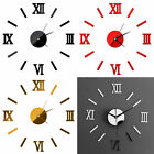 Diy 3d Large Number Mirror Wall Art Clock Sticker Decor For Home Office Room Uk