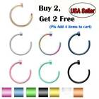 Kyпить 5pcs Nose Ring Surgical Steel Fake Nose Rings Hoop Lip Nose Rings Thin Piercing на еВаy.соm