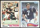 BUY 1, GET 1 FREE - 1982 TOPPS FOOTBALL - YOU PICK NUMBERS #1 - #200 - NMMT on eBay