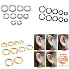 Fashion Steel Seamless Hoop Earring Cartilage Piercing Hoop Clip Piercing Studs
