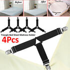 1/4pcs Bed Sheet Clip Triangle Grippers Holder Straps Mattress Pad Cover Keepers image