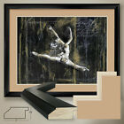 "40W""x32H"": BALLET by MARTA WILEY - BALLERINA DANCE - DOUBLE MATTE, GLASS & FRAME"