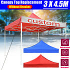 10x15ft Waterproof Gazebo Top Canopy Replacement Patio Pavilion Sunshade Cover