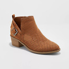 Womens Camdyn Laser Cut Buckle Bootie Universal Thread  Cognac - New with tags