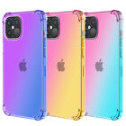 For iPhone 12 Pro Max 11 X XS Max 8 7 Plus Gradient Soft Silicone TPU Case Cover