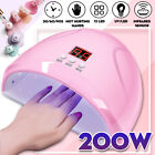 200W LED Nail Lamp UV Light Gel Polish Nail Dryer Manicure Art Curing Machine