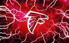 Atlanta Falcons' Lighting Football Poster Paper 24x36 $8.99 USD on eBay
