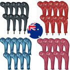 Golf Iron Head Covers 9Pack PU Leather Zipper Long Neck with Numbers Both Side
