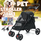 Dog Stroller Pet Travel Carriage for Dogs & Cats Foldable Waterproof Carrier Car