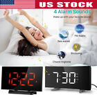 Projection Alarm Clock LED Curved-Screen FM Radio Alarm Digital USB Port