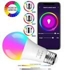 Wifi Smart Multi-Color LED Light Bulb RGBW For Alexa/Google Home App Control
