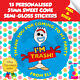 15 Personalised Toy Story Forky Birthday Party Thank You Sweet Cone Stickers