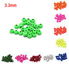 25pcs 3.3mm Fly Tying Tungsten Bead Round Nymph Head Ball Fly Tying Mater GG