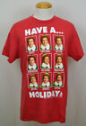 Elf Christmas Movie T-shirt Buddy Expressions Xmas Graphic Tee Red NWT
