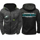 2019 Philadelphia Eagles Fan Hoodie Sporty Jacket Sweater Zip Coat Autumn Tops $15.99 USD on eBay