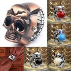 Retro Mens Womens Finger Ring Watch Unisex Cool Clamshell Ethnic Carved Watches image