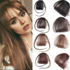 Women Thin Air Bangs Fringe Clip In Natural Human Hair Extensions Hairpiece