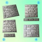 Set Molds Stone VENEER for Concrete Plaster. Mold Wall Stone Brick Tiles Cement image
