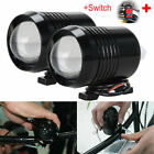 125W/20W 2Pcs CREE Led Motorcycle Headlight Driving Fog Spot Lights + Switch UK