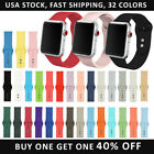 Replacement Silicone Band Strap For Apple Watch Series 5/4/3/2/1 38/40/42/44mm image