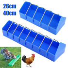 UK 26/40cm Plastic Sturdy Poultry Trough Feeder Chicken Poultry Pigeon Feeder