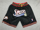 Men's Stitched retro Philadelphia 76ers NBA Basketball Shorts Pants