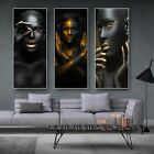 Black and Gold African Sexy Woman Wall Art Canvas Painting Posters Home Decor for sale  Shipping to Nigeria